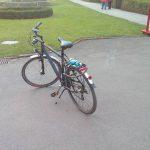 Christoph´s Trekkingrad wo er mit seine Fahrradtouren macht