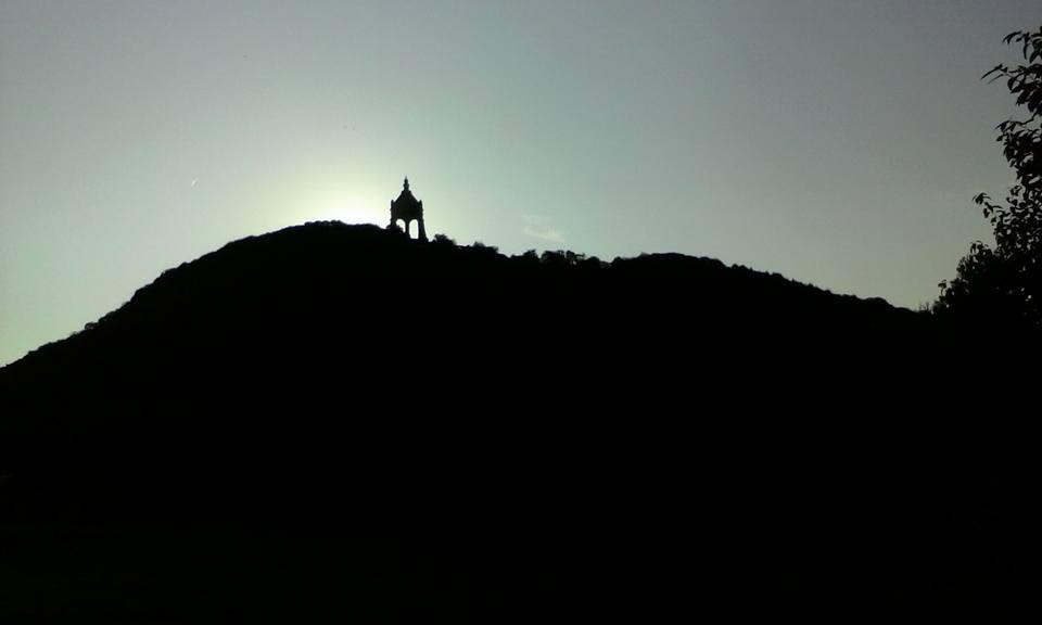 Kaiser Wilhelm bei Sonnenuntergang