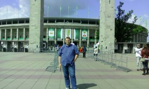 Christoph Pries am Berliner Olympiastadion