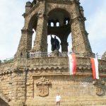 Christoph vor dem Porta Denkmal Kaiser Wilhelm
