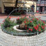 Springbrunnen auf dem Marktplatz von Melle