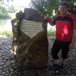 Der Startpunkt am Weserstein