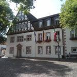 Rathaus in Beverungen. Mit Fachwerkgiebel