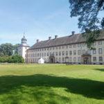 Schloss Corvey an der Weser mit den Innenhofblick
